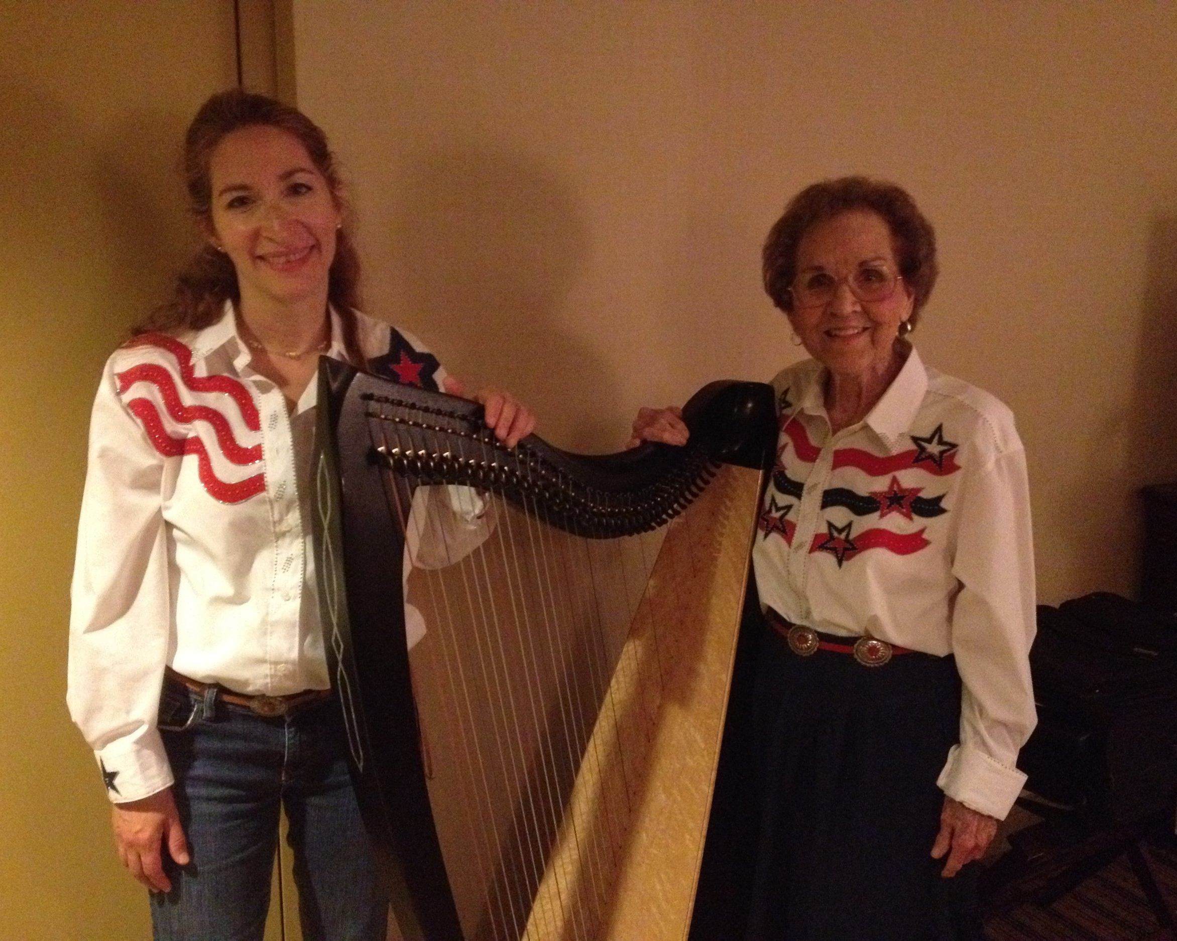 Performing at Somerset Folk Harp Festival with renowned Texan harpist, Louise Trotter.