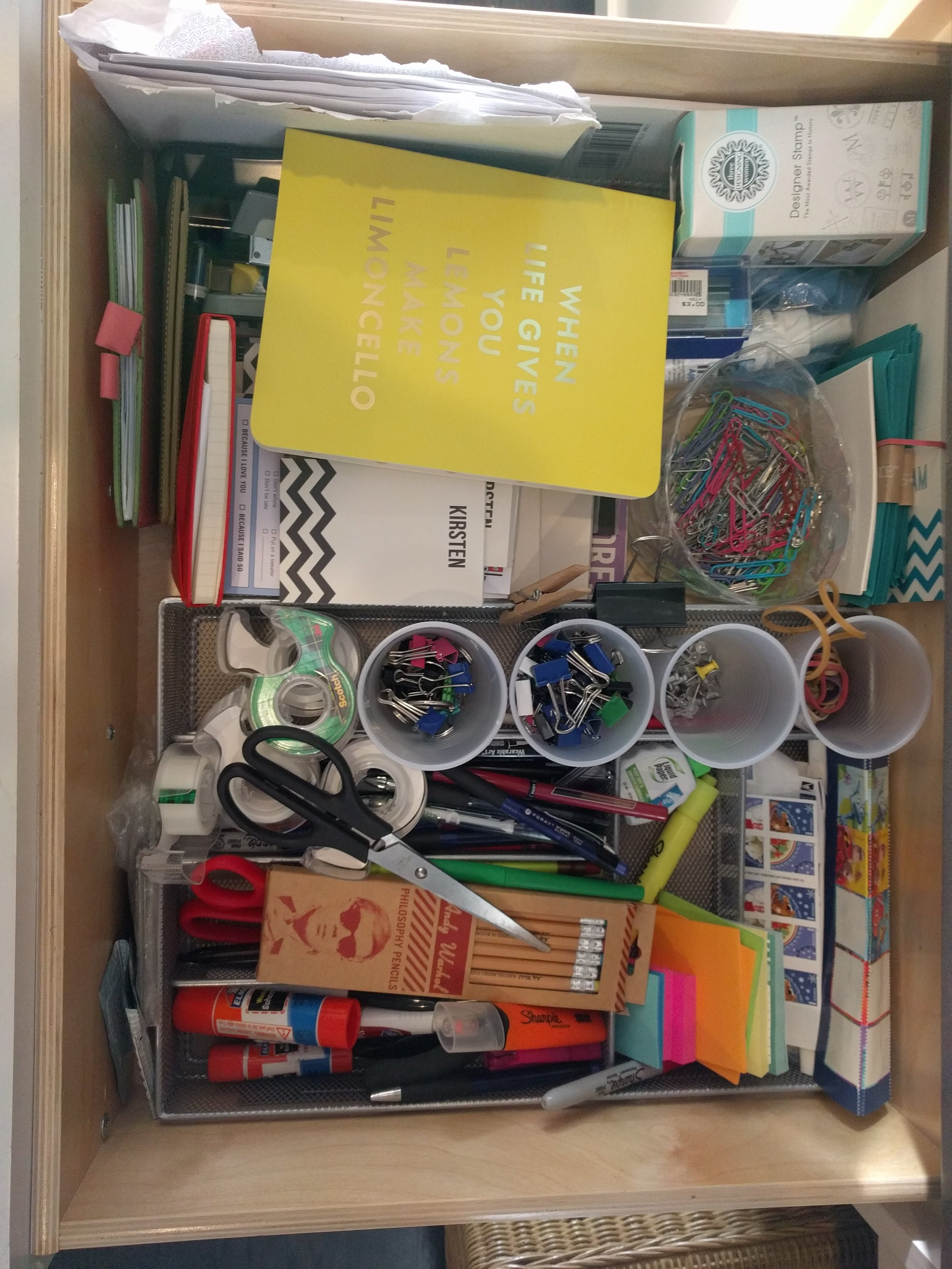 Before: Stationery Drawer