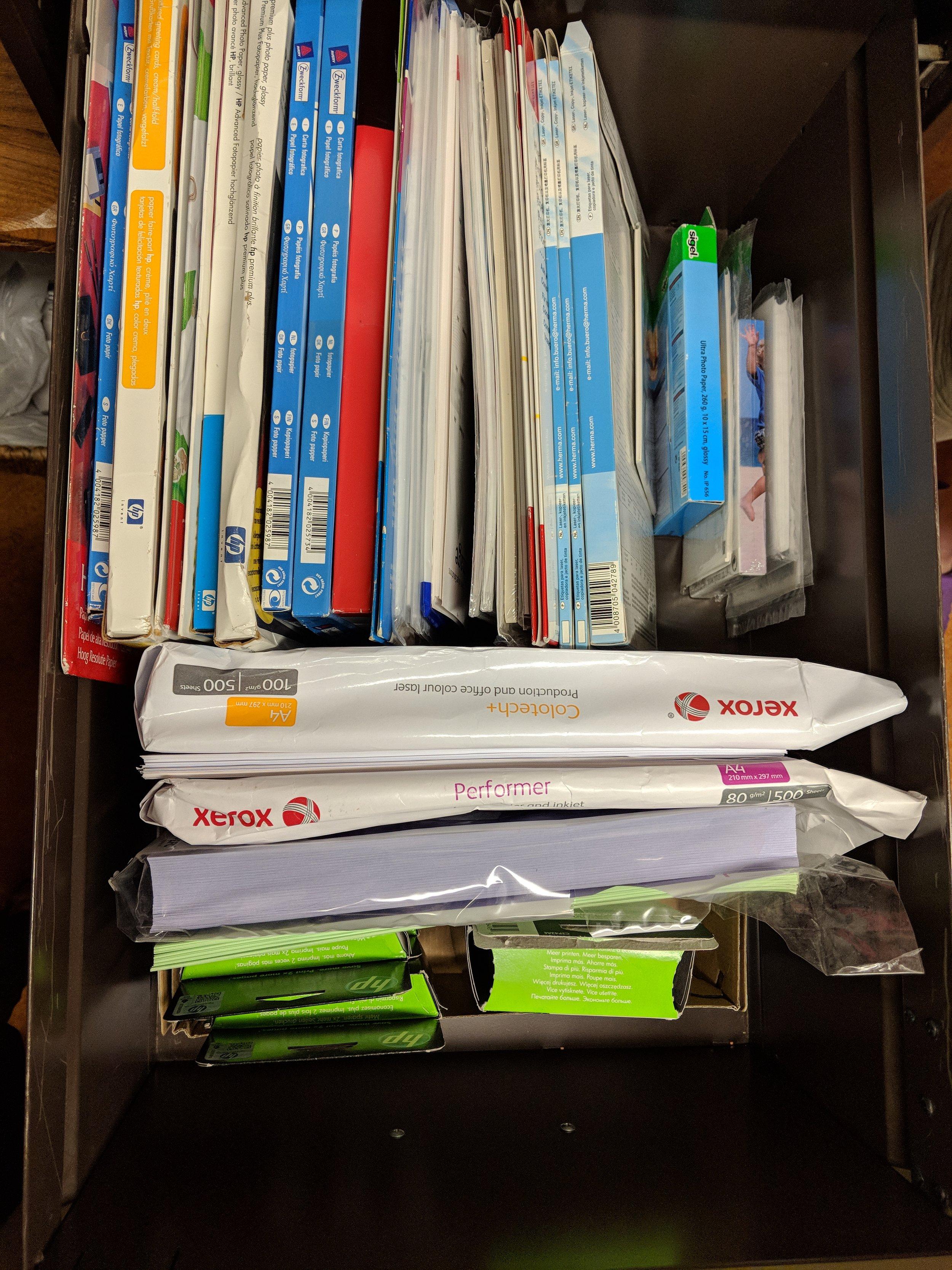 After: Printer Supplies Drawer