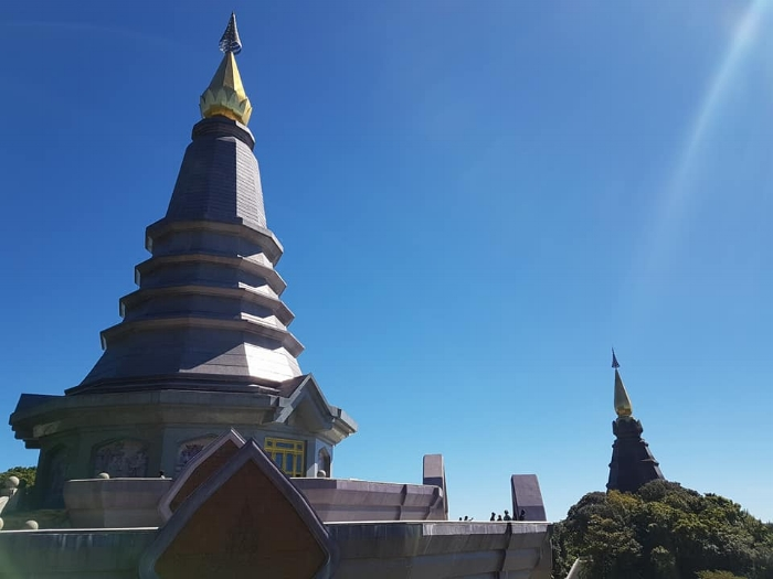 The famous twin towers of Doi Inthanon