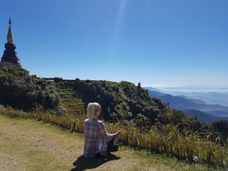 Meditation on the mountain top