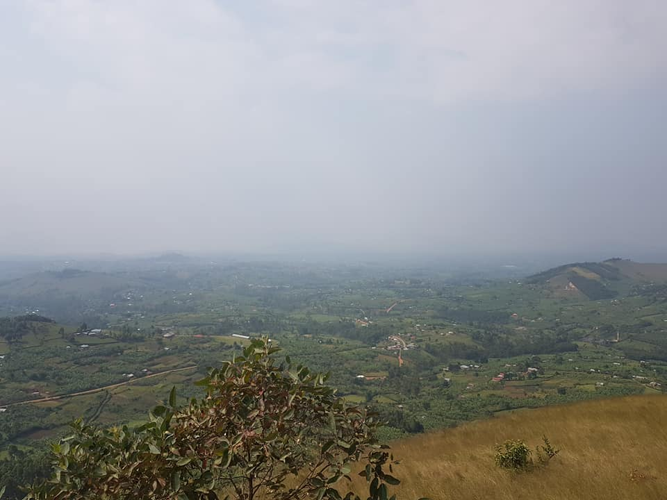 The view from the top of the biggest hill