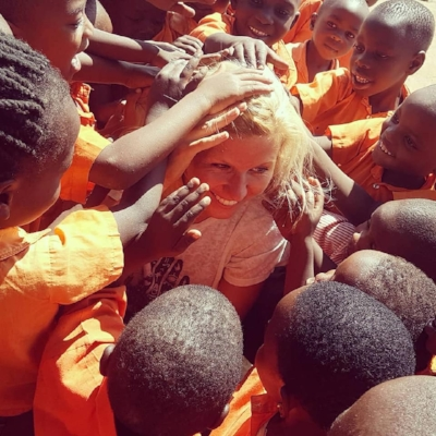 A beautiful moment when the nursery classes asked if they could touch my hair and skin