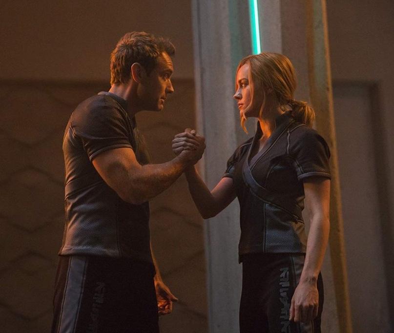 Carol Danvers (aka Vers) and Yon-Rogg, her Kree mentor