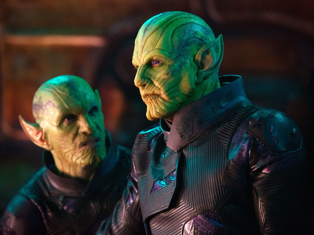 Skrull Leader, Talos. My favorite character in the movie.