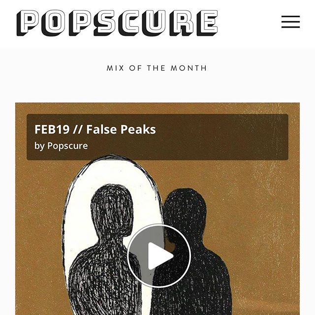 Our FEB19 #PopscureMix comes from our ATL homie @craignotcrack aka False Peaks ⛰⛰ Tune in via link in bio to enjoy some of that lush and melodic #deephouse 🏠🏠