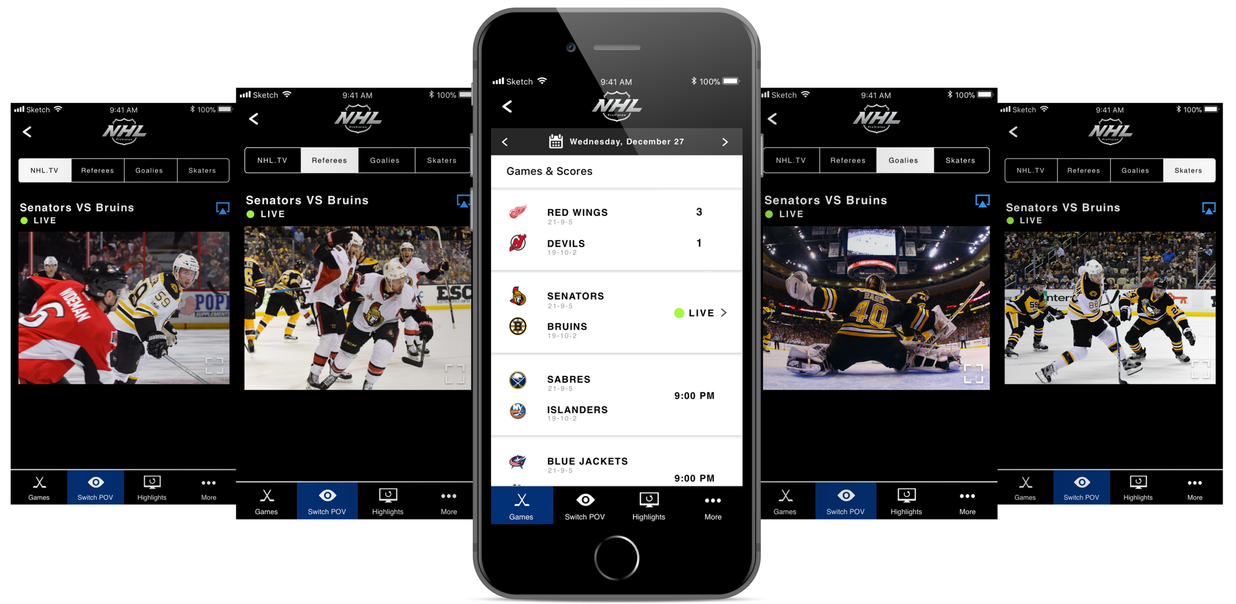 Nhl Mobile App Concept Design Sally Lu