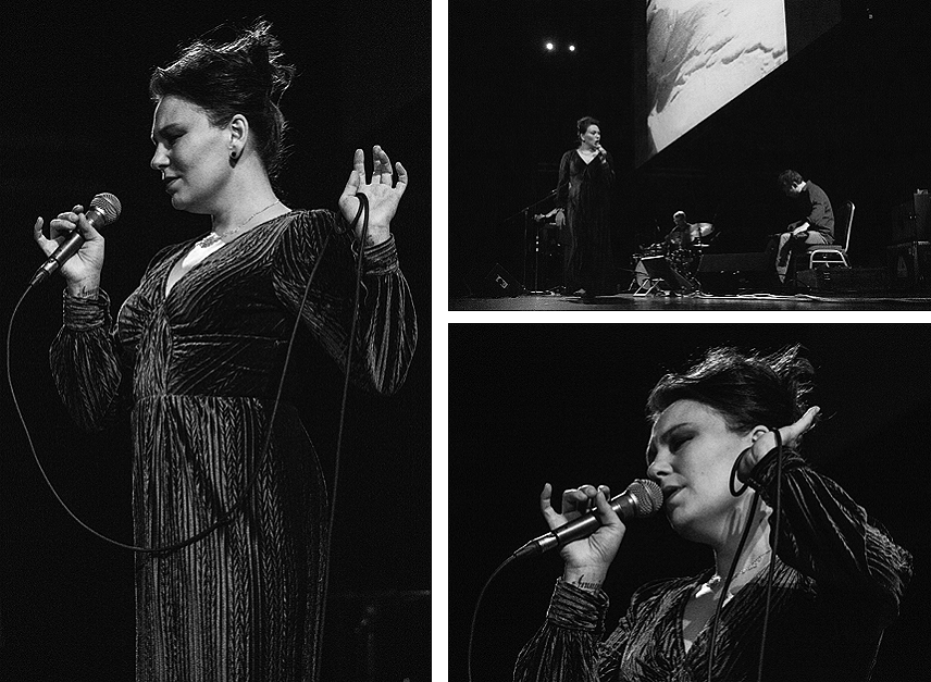 "Tanya Tagaq performs a live improvised soundtrack for the film ""Nanook of the North"" at St. Catharines' First Ontario Performing Arts Centre. PHOTOS BY ALEX LUPUL"