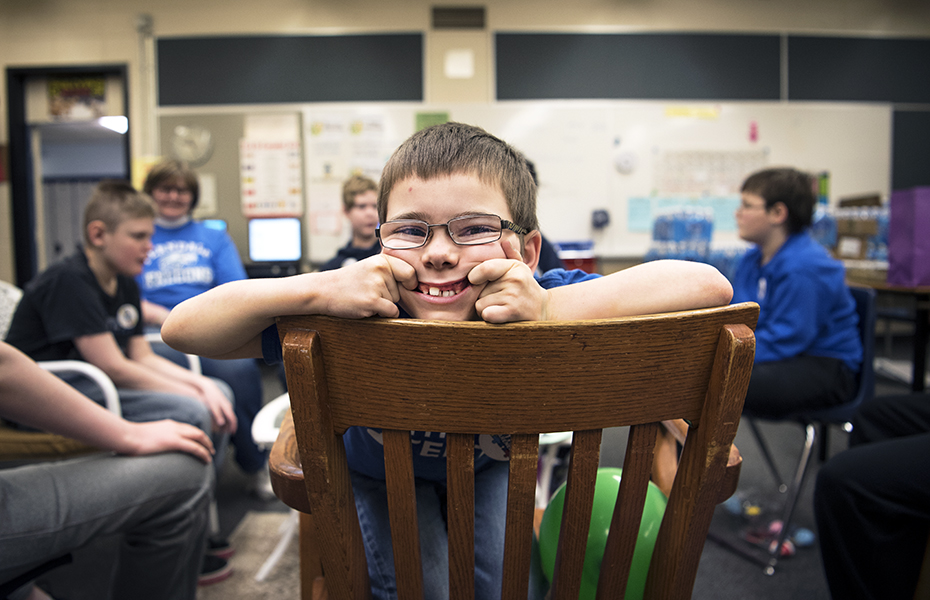 Ferndale Public School student Timothy Summerfield is all smiles during the school's World Autism Day event.
