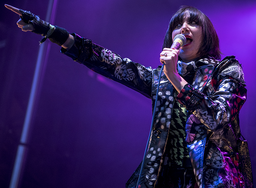 Karen O of the Yeah Yeah Yeahs performs at Toronto's Field Trip Music Festival on June 3.