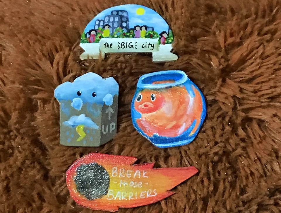 I like these pins from  anne.briel  because they are so relevant to me. I met her at a flea at Westwood Secondary while helping troopsonprint and she's very nice in person too!