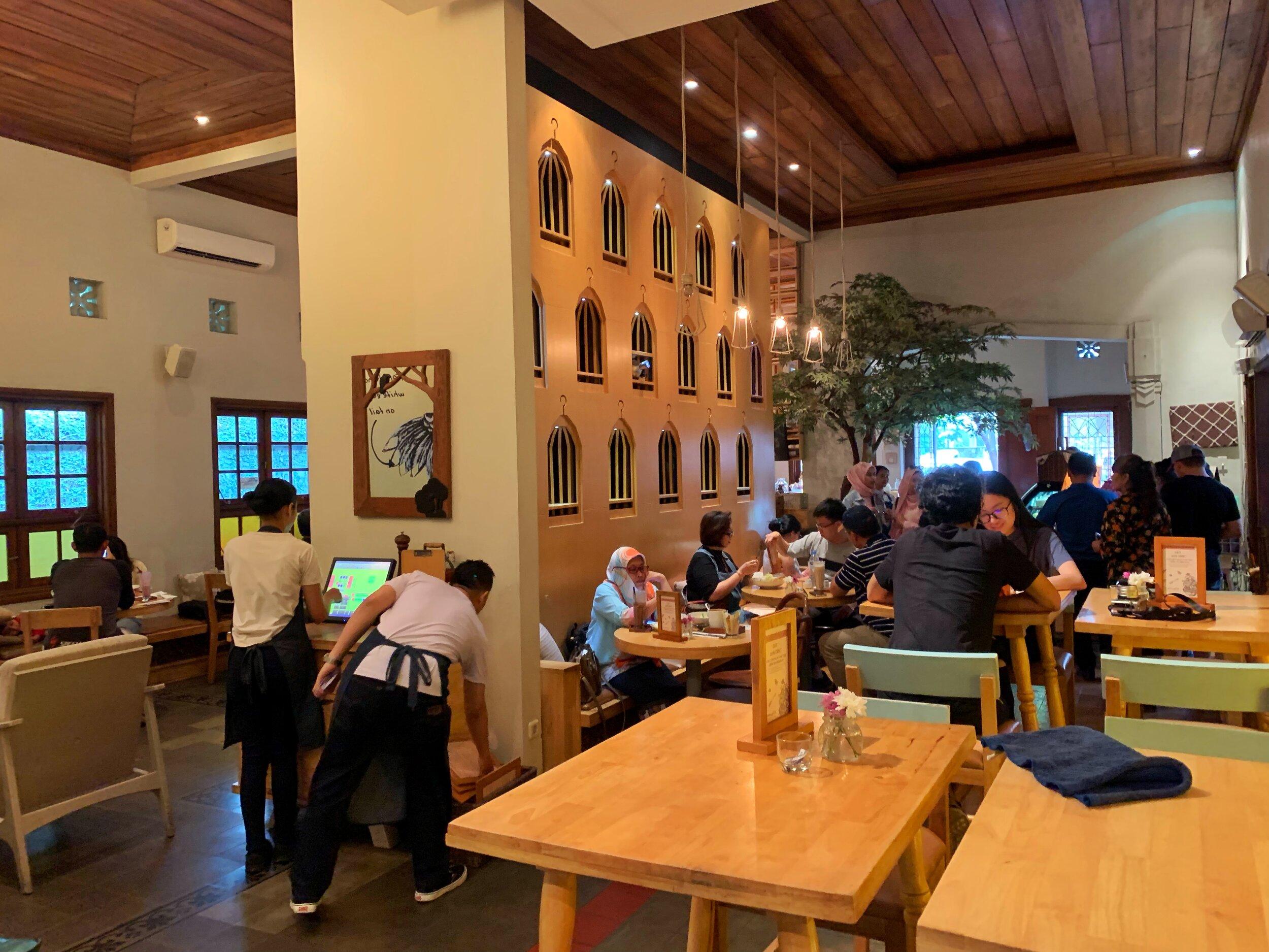hummingbird cafe bandung indonesia
