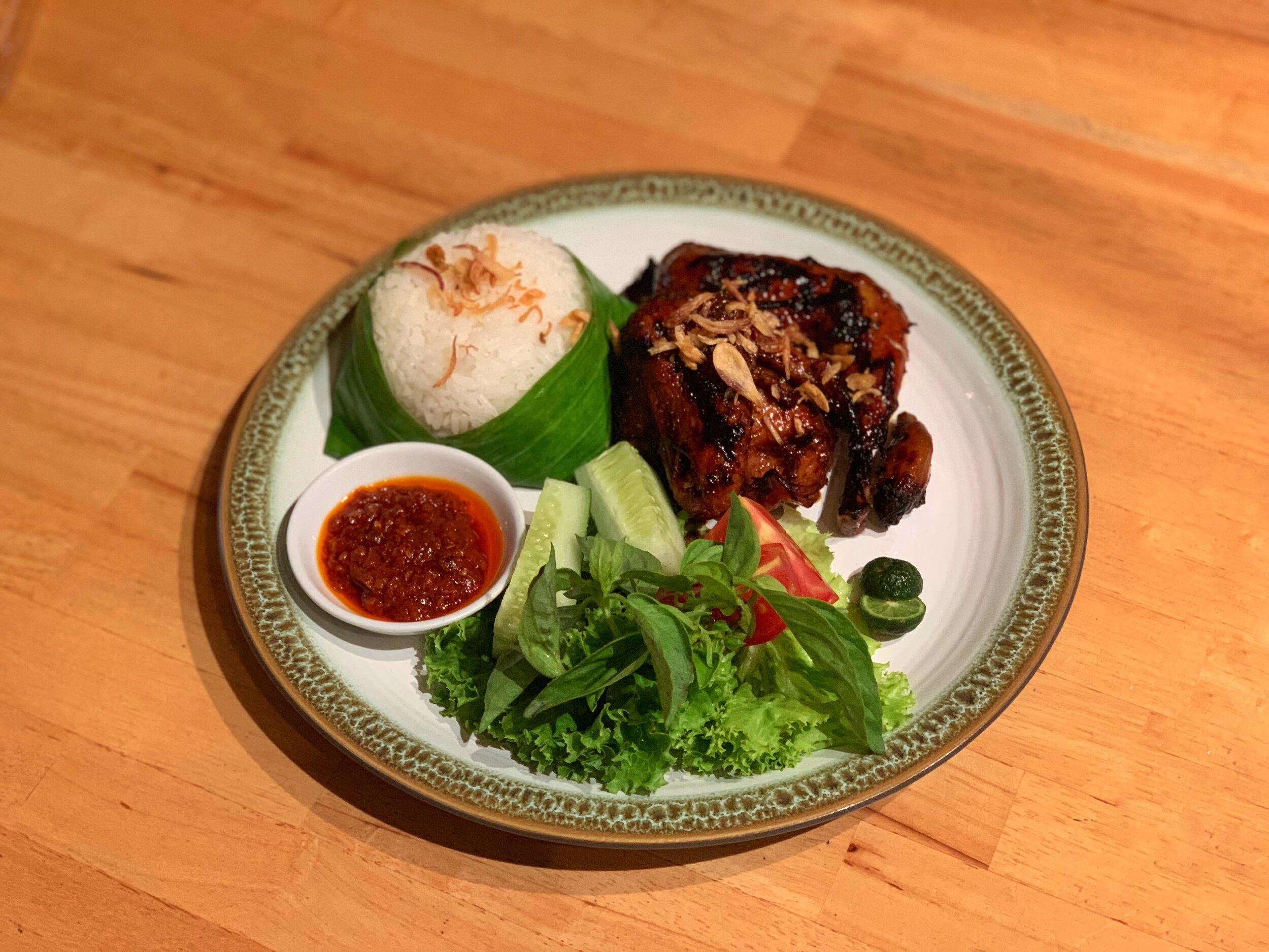 Half ayam bakar hummingbird eatery bandung indonesia