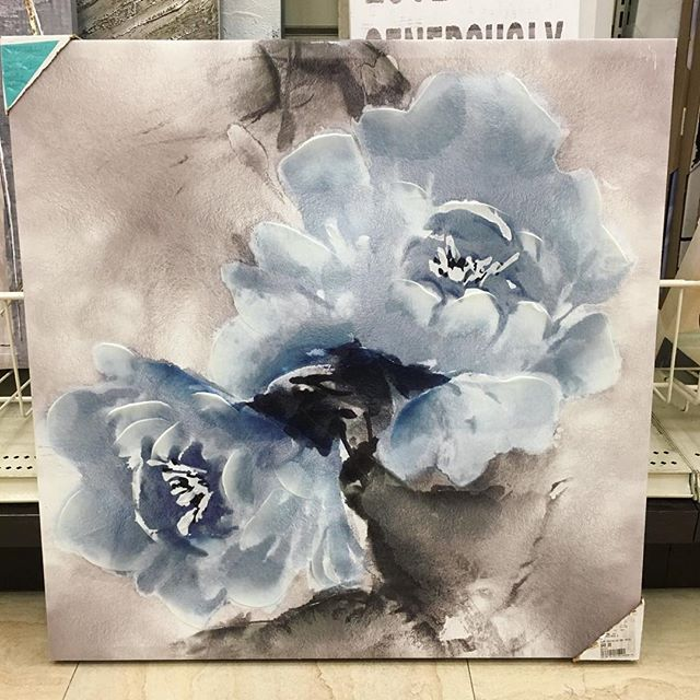Love this! Beautiful soft blue and grey, this painting would work well in almost any room! A fun find at Homesense!