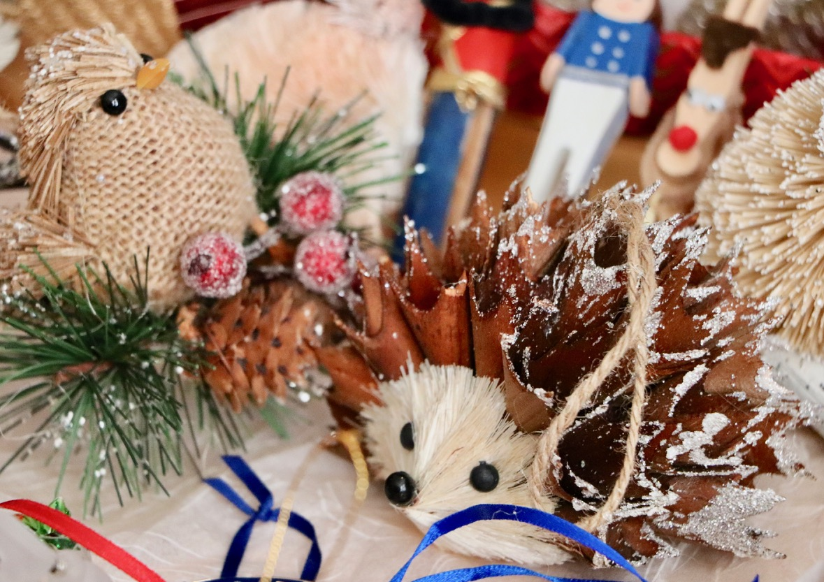 Before you pack up your ornaments, consider if you might want to donate a few of them next season! Are there any still packed away that didn't even make it on to the tree this year? Consider setting them aside so that you can easily donate them next fall if you choose to.  Photo by: Lighter Side Interiors