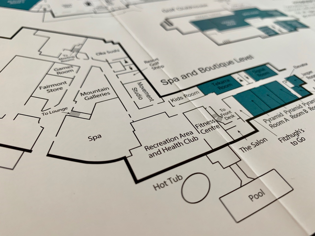 Map of the hotel! Photo by: Lighter Side Interiors