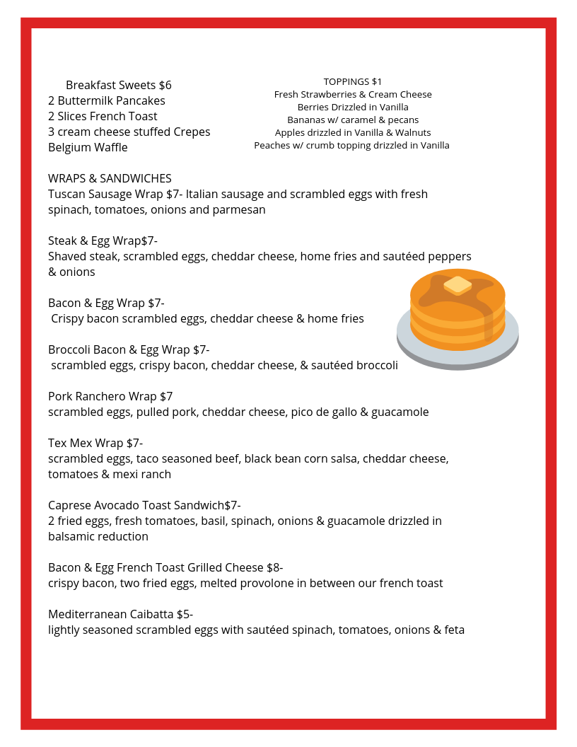 Pancakes & Breakfast Wraps