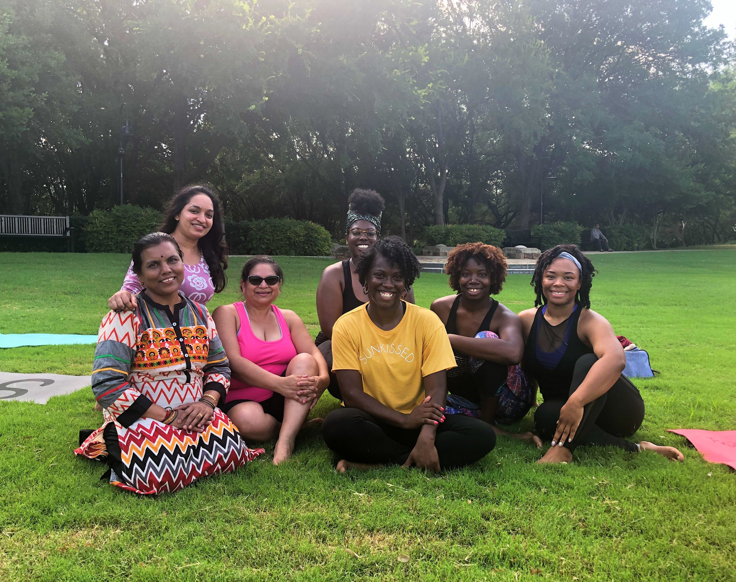 "Yoga Finance Class for ""It Takes A Village"" — A network of women building a support system for mothers.      Date: Saturday June 22, 2019      Location: Celestial Park Dallas, TX"