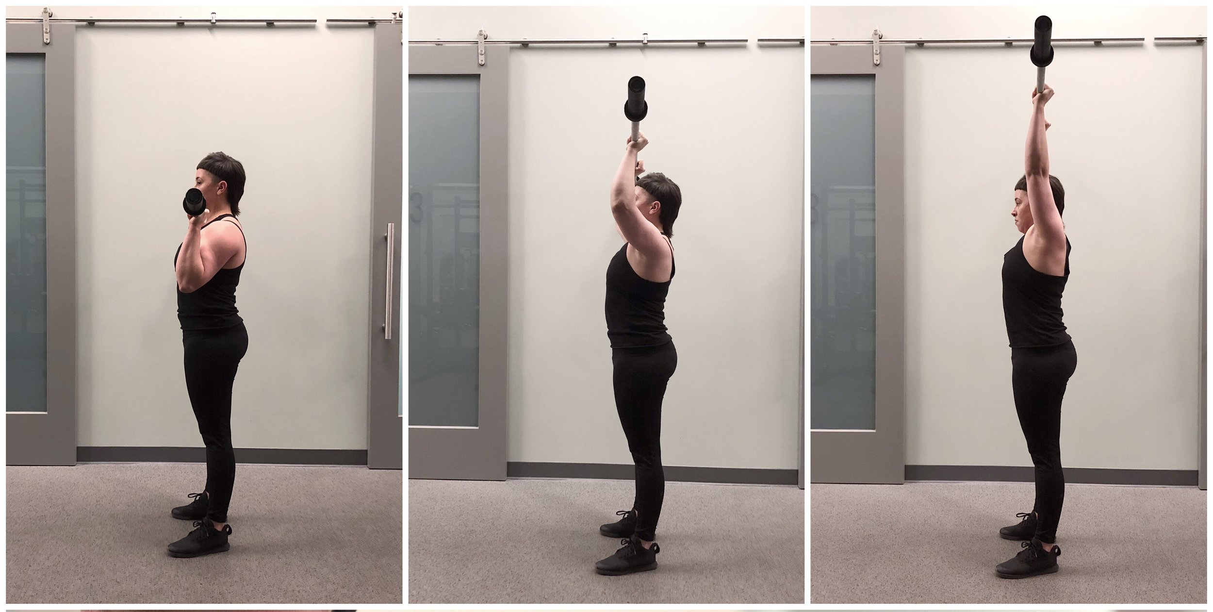 Notice I did not press the bar AWAY from me. The bar stays over my mid foot the whole time and goes up in a straight line not an arc.