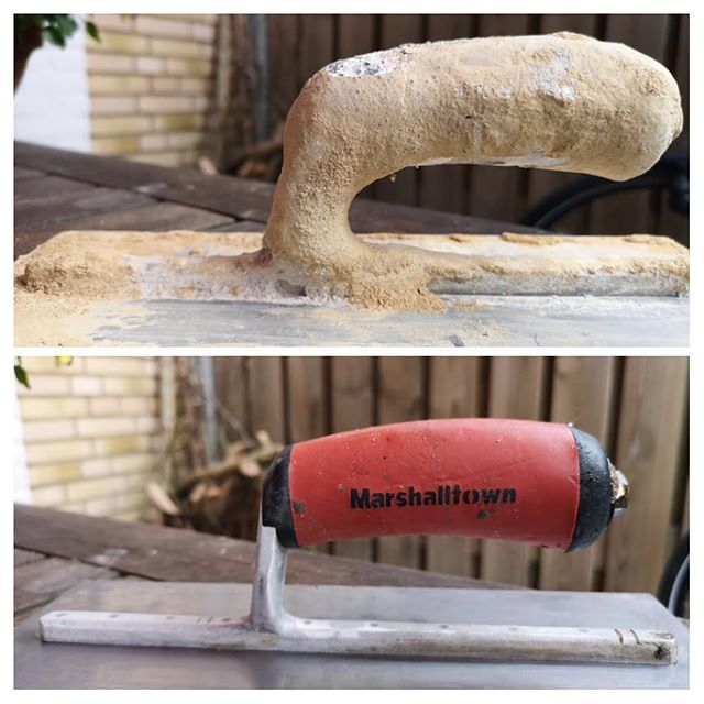 Before and after the vinegar bath.  #marshalltown #tools #plasterers #plasterersarms #tipsandtricks #construction