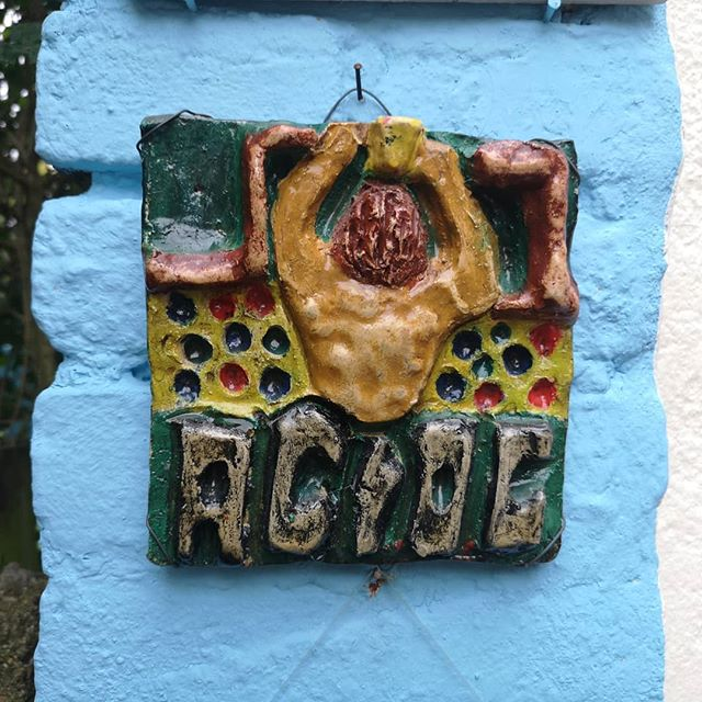 A little artwork I made when I was 8. The cover of AC/DC' s 1983 album Flick of the switch. Now hanging in my parent's garden.  #acdc #acdcfans #acdcforever #acdclovers #acdcfan #albumcover #albumcovers