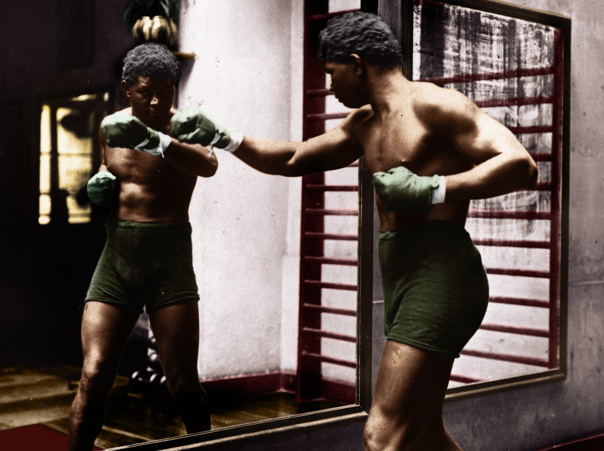 The Battling Siki 1922 - Colourized by Colm Brennan 2019. Twitter: @colmgbrennan
