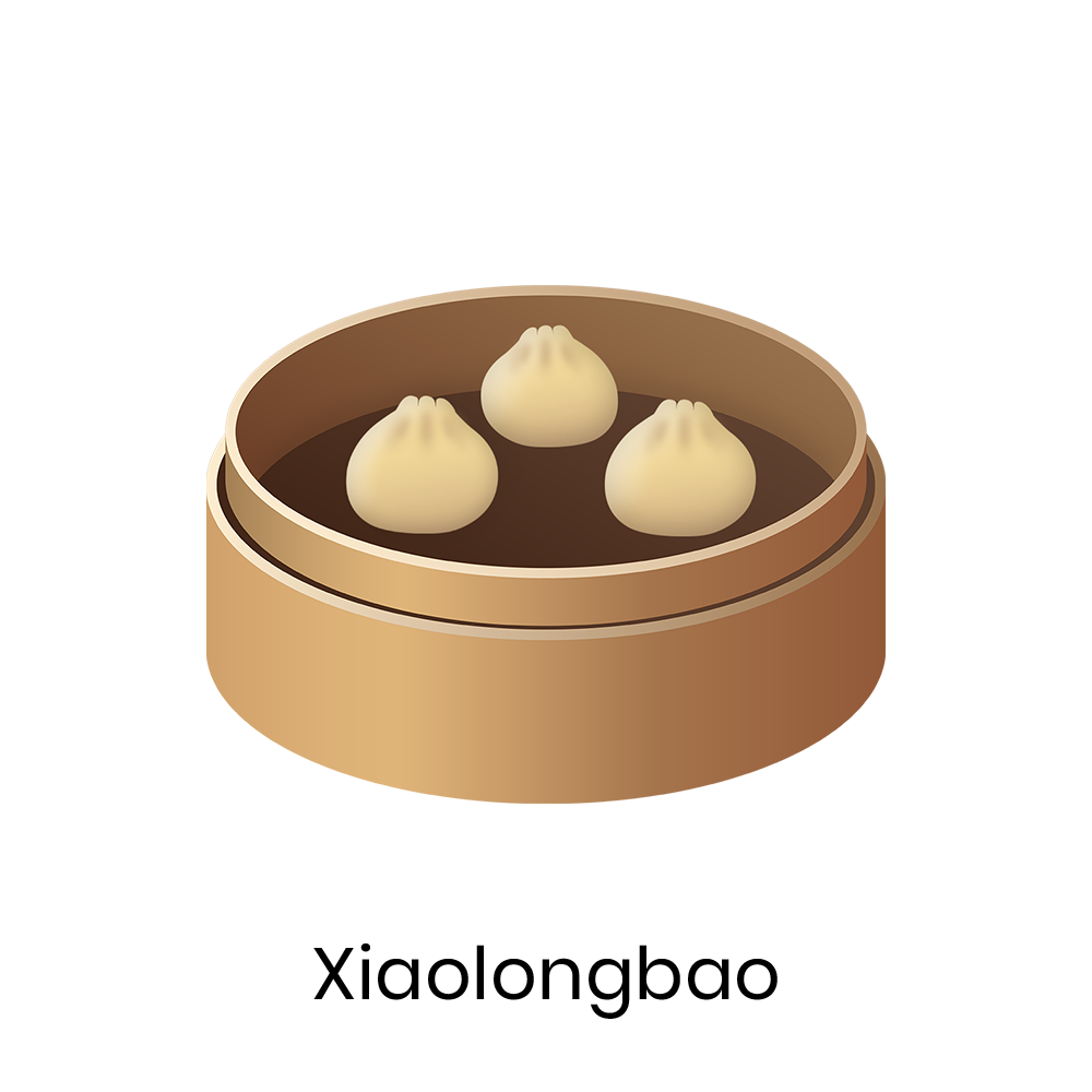 Xiaolongbao  Xiaolongbao is a small steamed bun made with thin dumpling wrapper, seasoned pork filling, and hot soup. It is a signature Taiwanese dish.
