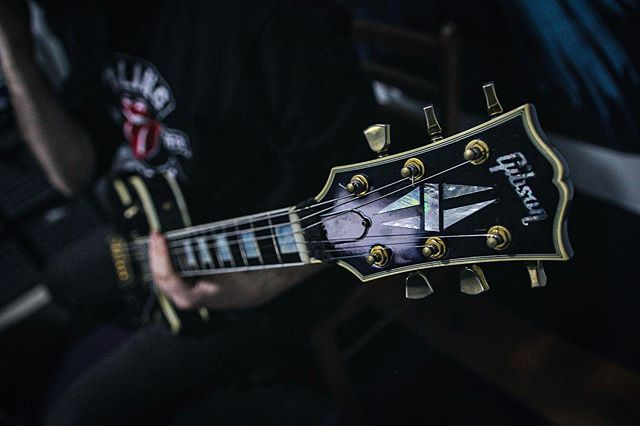 Guitars are taking shape, bringing out the heavy hitters for Album II. . . . . . . . . . #gibson #metal #toxicon #studio #lespaulcustom #guitarporn #oldschool #pickharderdammit #lespaul