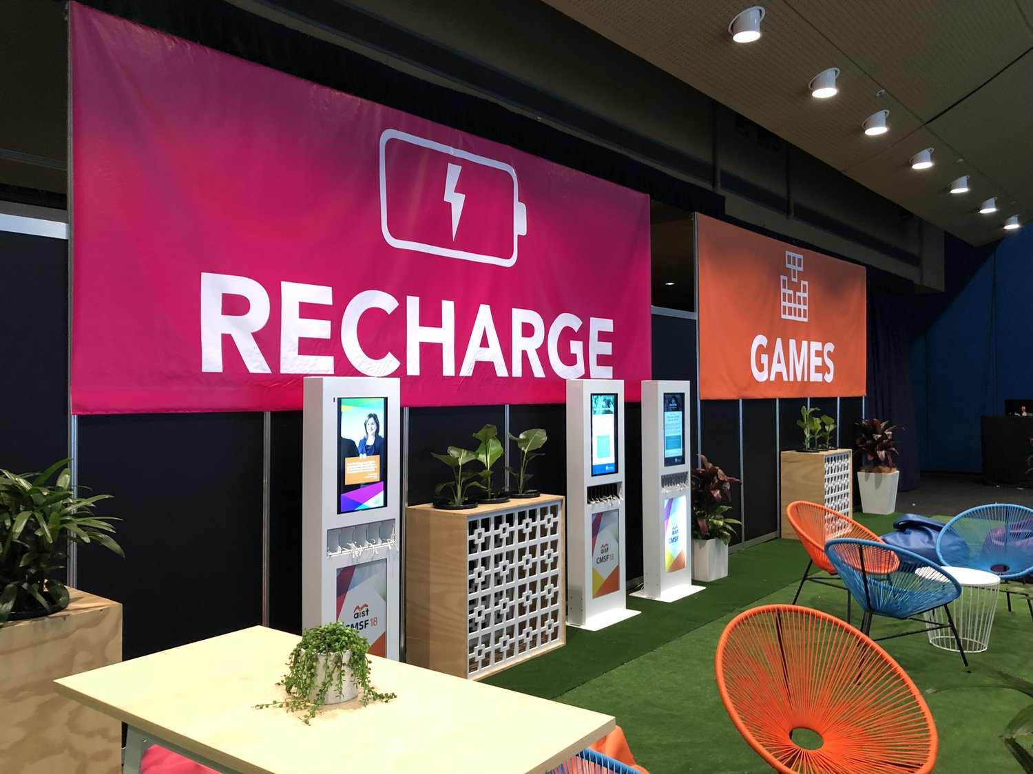 "A dedicated ""Recharge"" area at your event is a great way to keep your patrons connected and present at your event!"