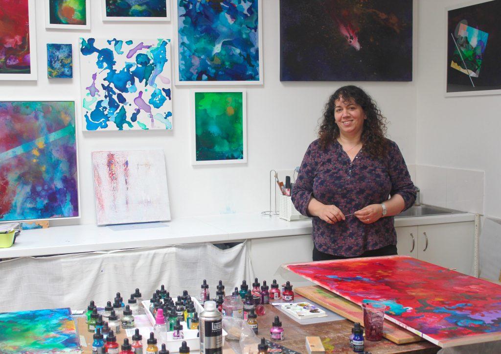 Teresa in her studio