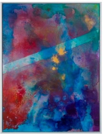 Saffi 2, acrylic on clayboard, 48x43cm