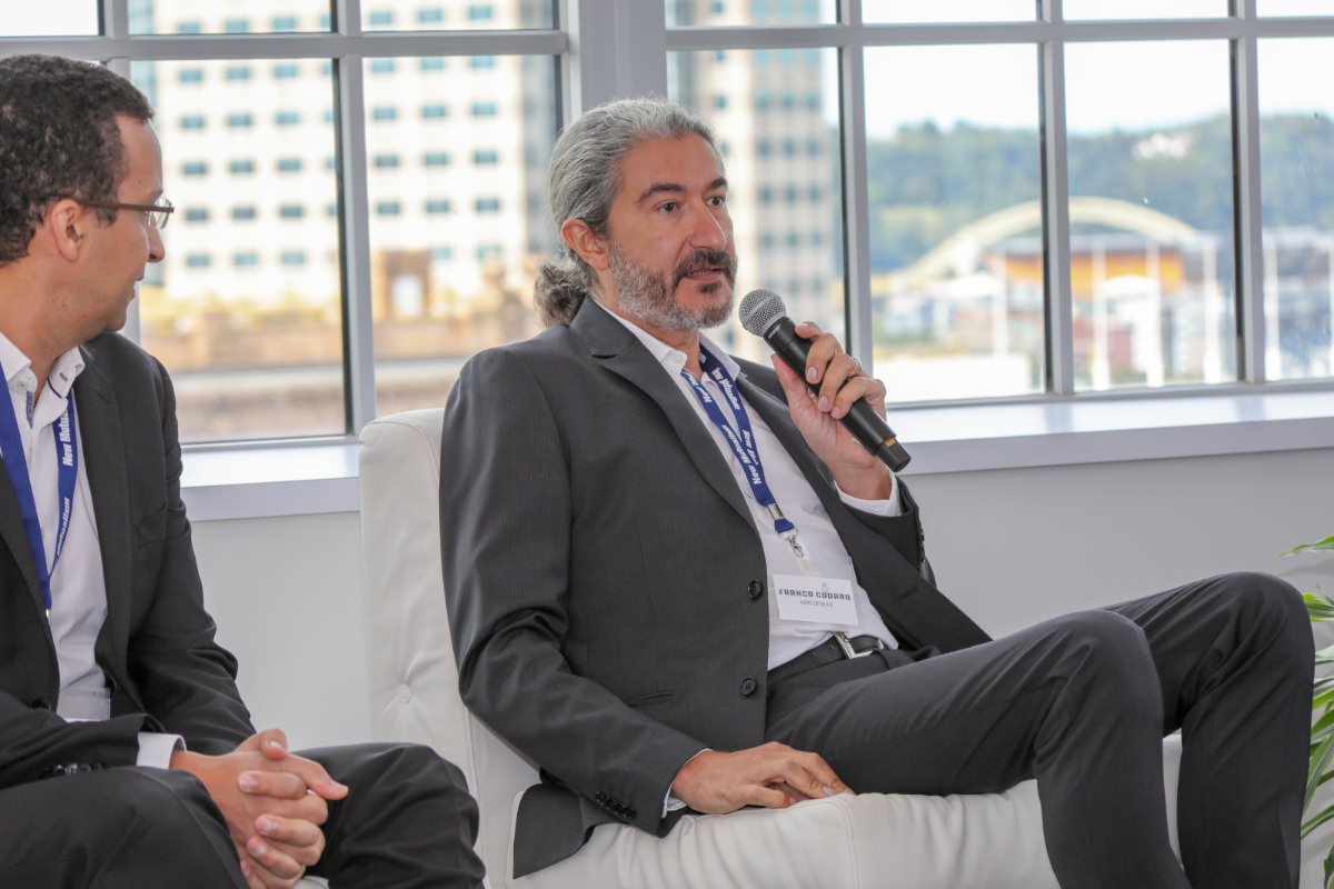 Franco Cordaro    answering a question from the floor during the panel discussion