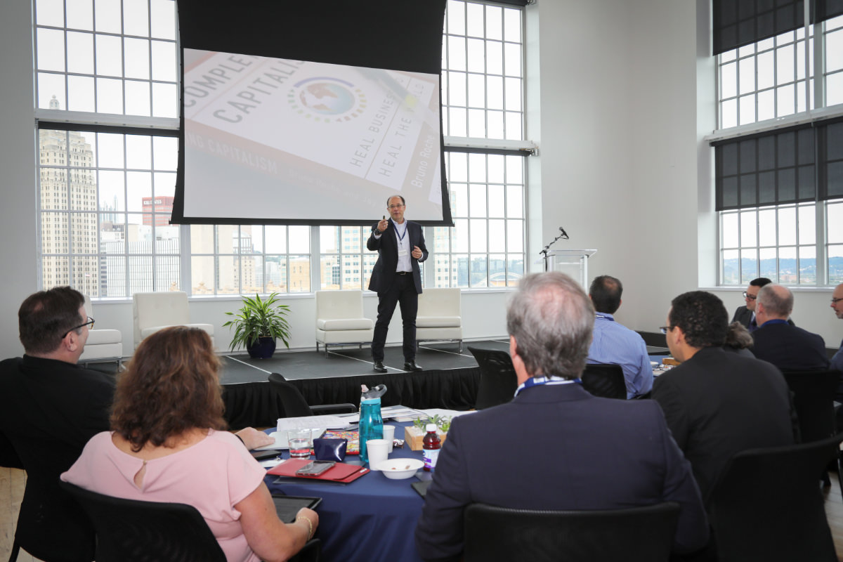Rich DeClaudio   , President and CEO at Energy Innovation Center Institute and President & CEO at EICI Enterprise, LLC, one of the gathering's hosts, provides introductions