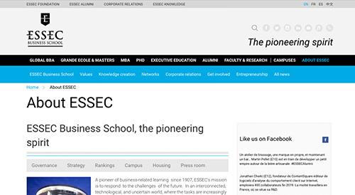 Visit Website - ESSEC Business School