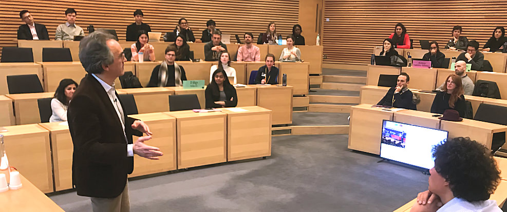Bruno Roche Inspires Oxford University MBA Students -