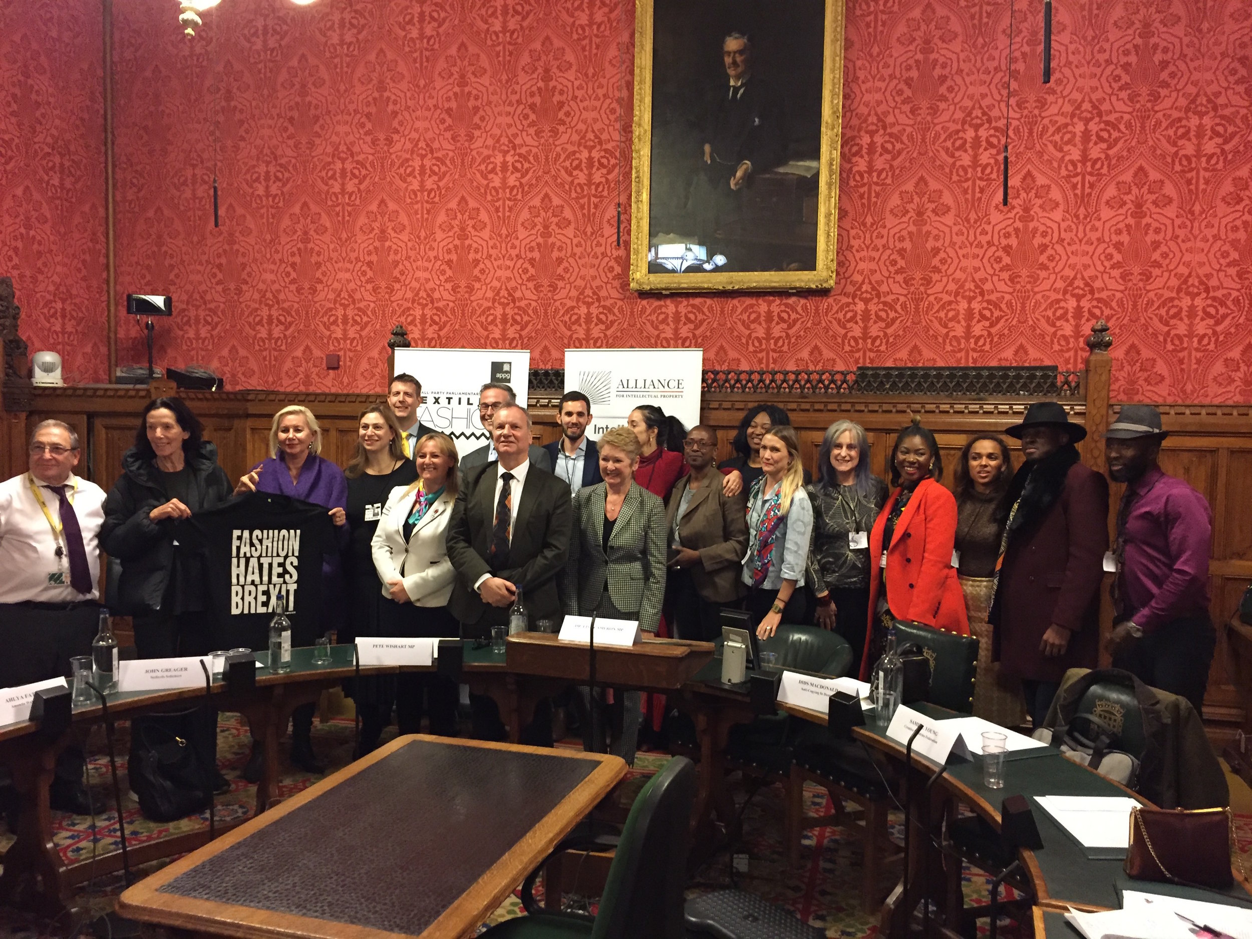 APPG FOR TEXTILES AND FASHION & APPG FOR INTELLECTUAL PROPERTY: FASHION IN THE GLOBAL MARKETPLACE - NOVEMBER 2018Speakers: Dids MacDonald – CEO Anti-Copying in Design, Ahlya Fateh – Managing Director AMANDA WAKELEY, John Greager – Commercial Litigator and IP Lawyer, Samuel Young – Creative Industries Federation