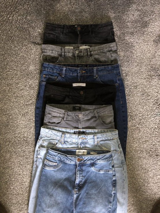 Incase you've ever wondered why women get so frustrated with our clothing sizes - every pair of jeans pictured, is a size 12