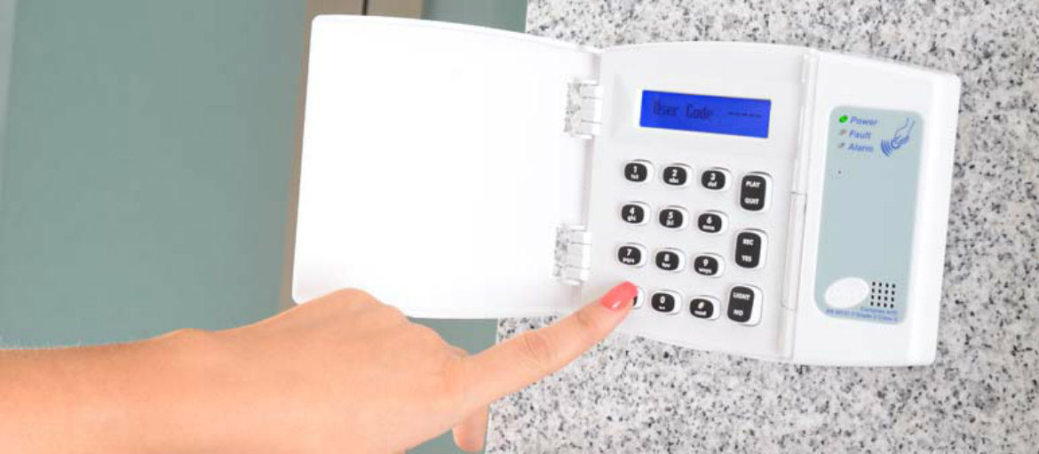 Wired Slimline Intruder Alarm Keypad
