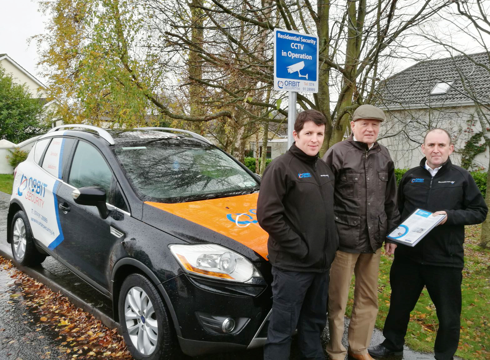 Orbit Security handover the Residential CCTV System to Whitethorn Residents Association