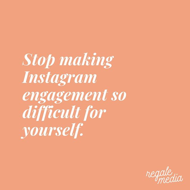 Guess what? Instagram engagement doesn't have to be difficult. It doesn't have to be confusing. You can make it really, really easy for yourself by simply curating your feed. Learn exactly how I do this for myself and my clients in my latest blog post. Link in bio @regalemedia.⠀⠀⠀⠀⠀⠀⠀⠀⠀ .⠀⠀⠀⠀⠀⠀⠀⠀⠀ .⠀⠀⠀⠀⠀⠀⠀⠀⠀ .⠀⠀⠀⠀⠀⠀⠀⠀⠀ .⠀⠀⠀⠀⠀⠀⠀⠀⠀ .⠀⠀⠀⠀⠀⠀⠀⠀⠀ .⠀⠀⠀⠀⠀⠀⠀⠀⠀ .⠀⠀⠀⠀⠀⠀⠀⠀⠀ .⠀⠀⠀⠀⠀⠀⠀⠀⠀ .⠀⠀⠀⠀⠀⠀⠀⠀⠀ #instagramforbusiness #socialmediatraining #socialmediaexpert #instagramtips #socialmediacoach #smallbusinessmarketing #socialmediatrainer #marketingtools #marketingteam #socialmediasuccess #businessadvice #socialmediahelp #socialmediapromotion #socialmediaguru #digitalmarketingtips #socialmediatip