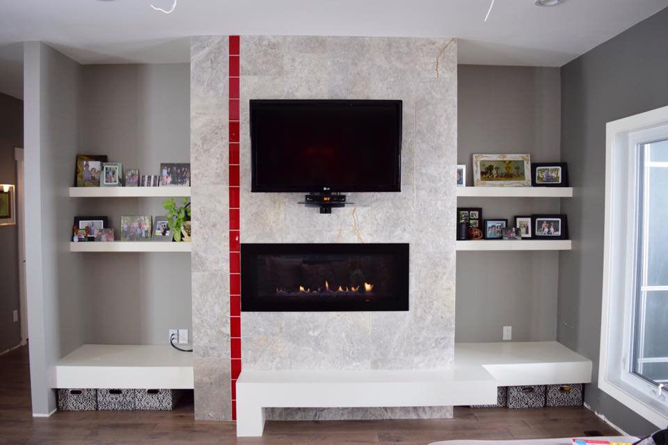 Fireplace and Trim-work