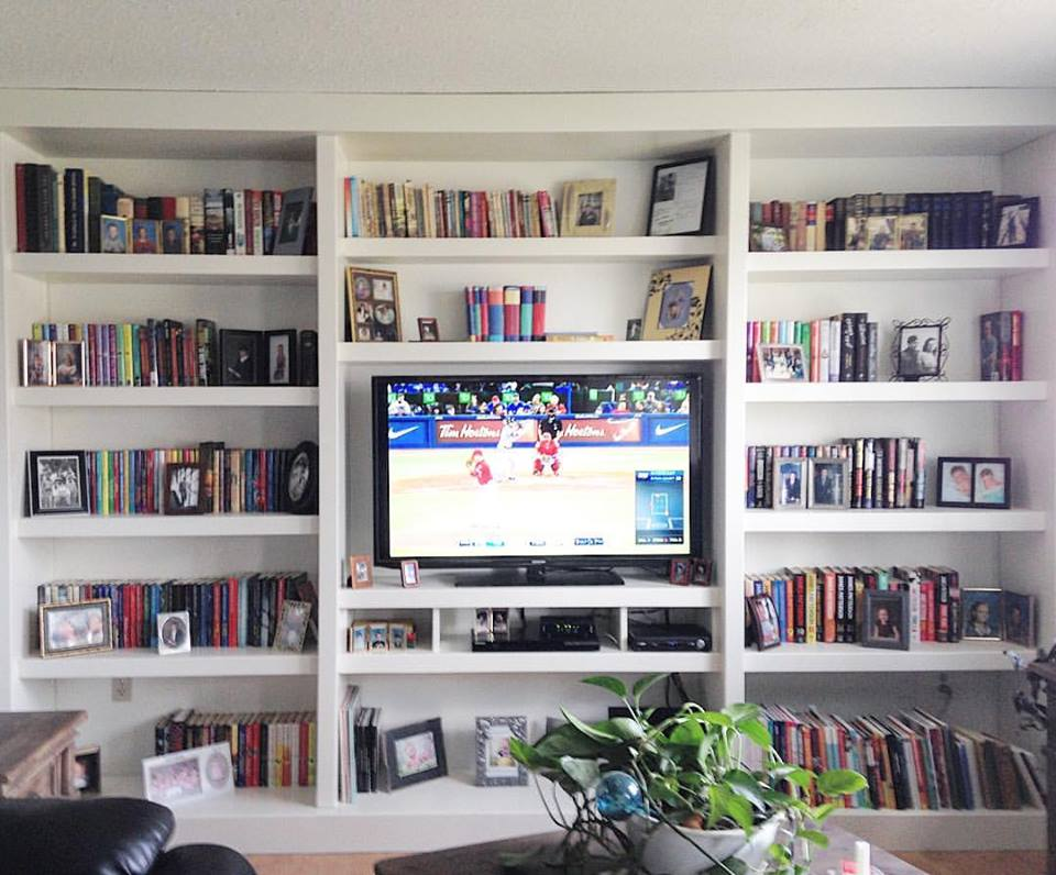 TV and Bookcase