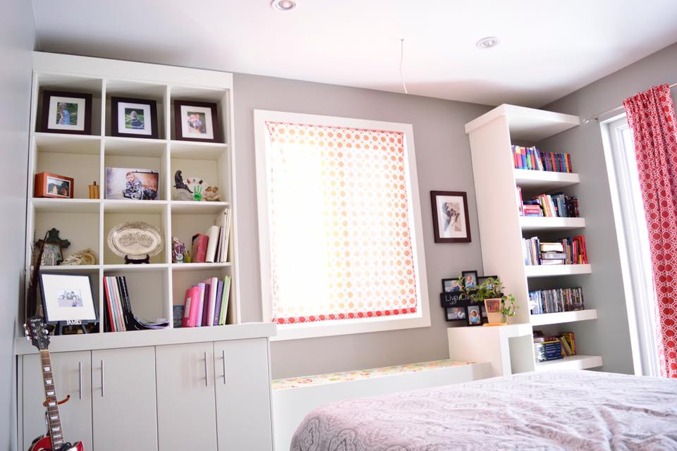 Bookcase and Window Seat Trim-work