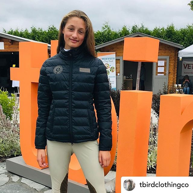 Chloe is looking fabulous in her new Konia Lennox jacket. Thanks @tbirdclothingco for sharing!  #equestrianstyle #ootd #equestrian