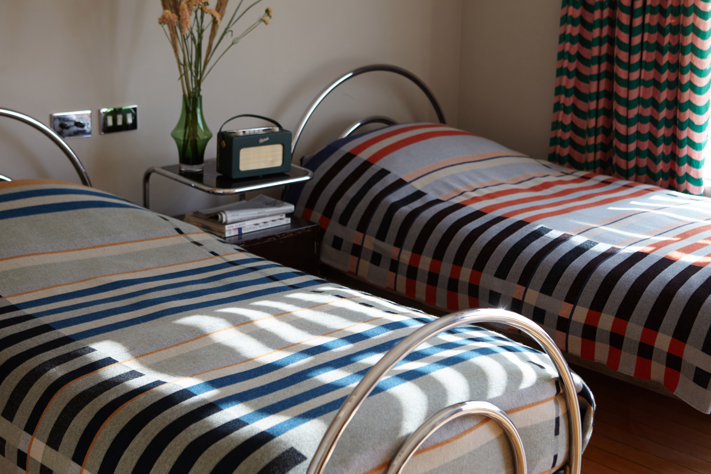 Gunta Stölzl's original Bauhaus dormitory blanket recreated by Wallace Sewell / more details via @kronekern