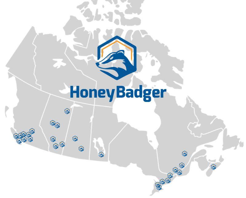 HoneyBadger kiosk fleet as of August 2018