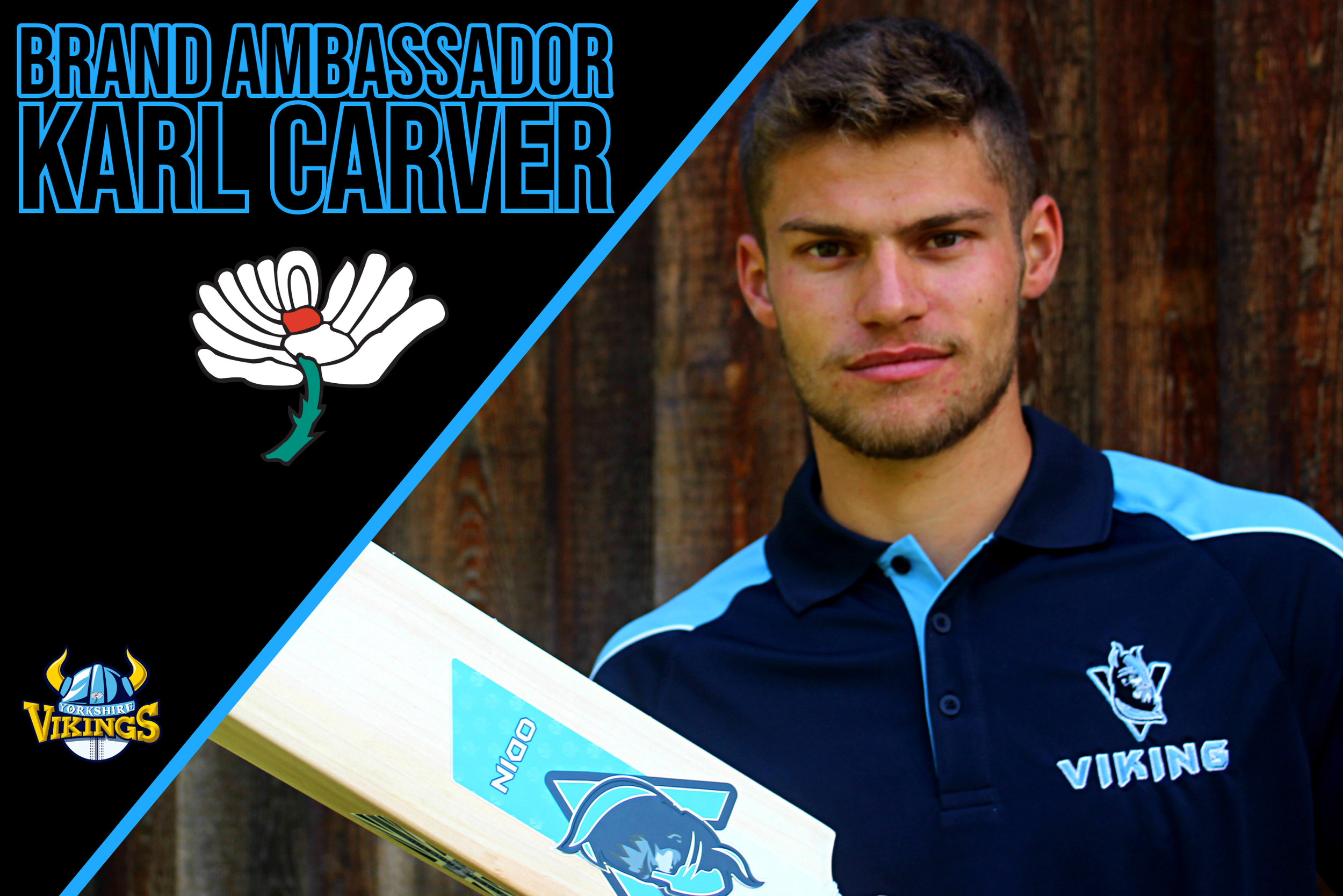 Karl Carver - An English first-class cricketer. A slow left arm orthodox bowler and left handed batsman, Karl plays for Yorkshire County Cricket Club.Karl will be using the Odin and Hel-Fyr ranges for the 2019 season.You can follow Karl on twitter.com/KarlCarver_29
