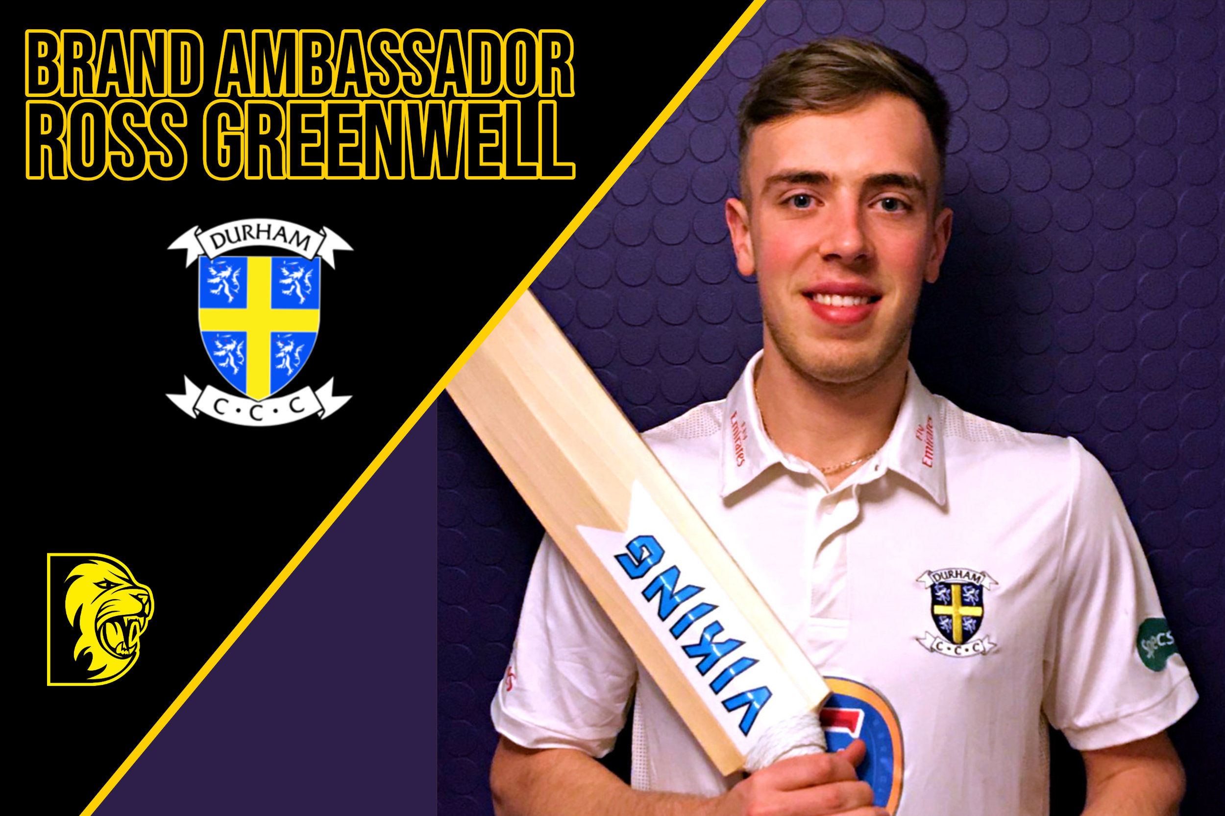 Ross Greenwell - Ross is a 20 years old cricketer. A right Handed Batsmen who can bowl right arm fast medium. Ross plays for Durham.Ross is using Odin and Hel-Fyr for 2019.You can follow Ross on www.instagram.com/_rg.01