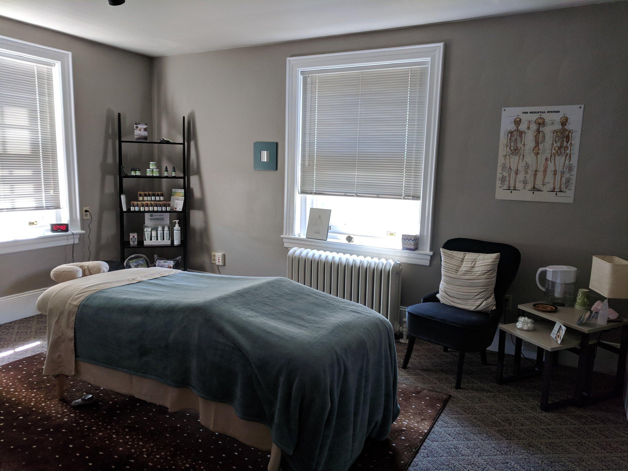Relaxing peaceful massage studio