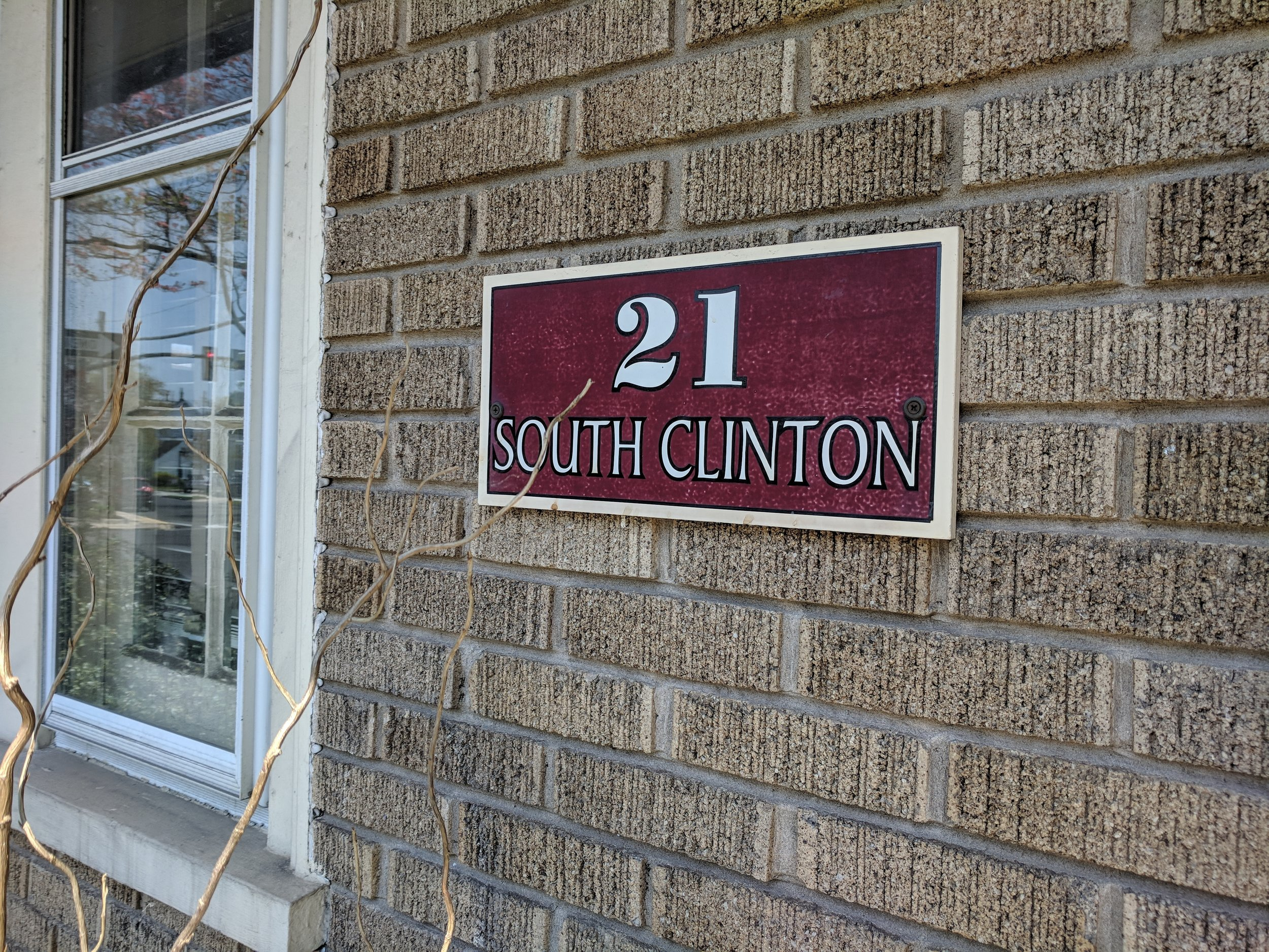 Address plate for 21 South Clinton St Doylestown